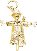 Rembrandt Charms Scarecrow Charm, 10K Yellow Gold