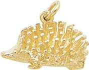 Rembrandt Charms Porcupine Charm, 10K Yellow Gold