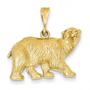 14k Polar Bear Charm - Measures 27.5x27.7mm - JewelryWeb