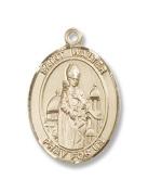 14kt Gold St. Walter of Pontnoise Medal