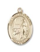 14kt Gold O/L of Lourdes Medal