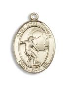 14kt Gold St. Christpher / Football Medal