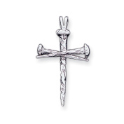 14 Karat White Gold, Nail Cross Pendant