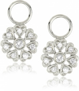 "KC Designs ""Charmed Life"" Diamond 14k White Gold Flower Ear Charm"