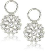 """KC Designs """"Charmed Life"""" Diamond 14k White Gold Flower Ear Charm"""