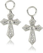 "KC Designs ""Charmed Life"" Diamond 14k White Gold Cross Ear Charm"