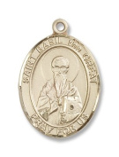 14kt Gold St. Basil the Great Medal, Patron Saint of (patronage) hospital administrators, reformers, Russia.