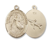 14kt Gold St. Joseph Of Cupertino Medal, Patron Saint of Pilots & Airforce