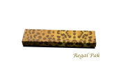 Regal Pak One-Piece Leopard Texture Cotton Filled Box 20cm x 5.1cm x 2.5cm H