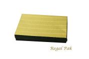 Regal Pak One-Piece Gold Texture Cotton Filled Box 18cm x 13cm x 2.9cm H