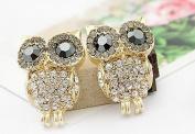 Change 3D Rhinestone Cute Owl Earring