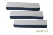 Regal Pak Three-Piece Silver Texture Cotton Filled Box 20cm x 5.1cm x 2.5cm H