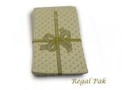 Regal Pak 100 Silver Bow Jewellery Paper Bags 15cm By 23cm