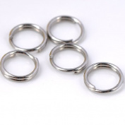 300x Jump Ring Stainless Steel Open Double Circle Connectors Finding 6mm Gift