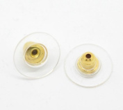 8 Pcs Earring Backs Stoppers Ear Post Nut W/pads Gold Plated