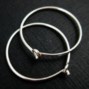 Sterling Silver 22mm Ear Hoops