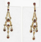 7.6cm Long Multi Topaz Rhinestone Chandeliers Earring