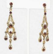 7.6cm Long Multi Topaz Rhinestone Chandeliers Earring