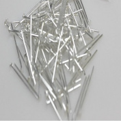 100 Pcs Head Pins Findings Silver Tone 22mm 21 Gauge