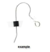 uGems Earring Backs Black Safety for Fish Hook Earrings Rubber Protectors Stoppers U S A Made 3mm