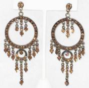 8.3cm Long Topaz Rhinestone Chandeliers Earring