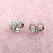 Jewellery Finding - 14K White Gold Small Earring Backs
