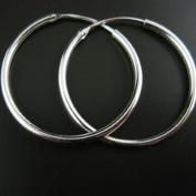 Sterling Silver Earrings - Strong Hoops - 25mm