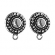 Silver Plated Pewter Beaded Clip On Earrings 16mm