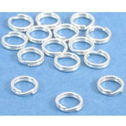 15 Split Rings Sterling Silver Charm Parts 6mm
