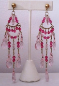 Designer Style Chandeliar Earring with Glass Beads