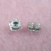Jewellery Finding - 14k White Gold 5mm Earring Backs