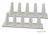 Regal Pak Two Piece White Leatherette 5 Finger Ring Stand 20cm X 5.4cm X 6.4cm H