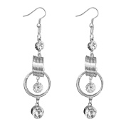 TWINKLE EARRING FASHION TWO SPRING ELEGANT FOR ALL TYPE OF OCCASIONS PACKED FOR GIFT IN SILVER BAG
