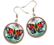 Ann Butterfly 1- Brass Earrings