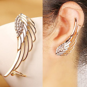 18k Gold Plated Diamond Fashion Punk Wing Ear Bones Clip Earring Ear-hook