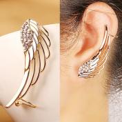 18k Gold Plated Diamond Fashion Punk Wing Ear Bones Clip Earring Ear-hook
