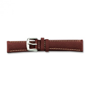 de Beer Brown Sport Leather Watch Band 20mm