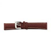 de Beer Brown Sport Leather Watch Band 20mm