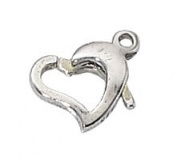 Sterling Silver Heart Shaped Lobster Clasp #315 - 8mm