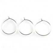 Earring Eardrop Circle Stud Hoops Earring Dangle Hooks 100pcs