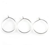 Earring Eardrop Circle Stud Hoops Earring Dangle Hooks 100pcs