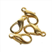 Golden Jewellery Lobster Clasps Findings 14mm 120pcs