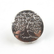 Tibetan Silver Tree Round Alloy Button Fit Sew-on Clothes(30pcs?