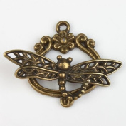 Vintage Bronze Plated Alloy Toggle Clasp Jewellery Findings Dragon Fly Style