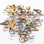 Mixed Silvery Golden Bronze Jewellery Lobster Clasps Findings 12mm -150pcs