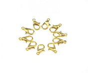 Afrom Here 25pcs Lobster Claw Clasp 12mm Gold