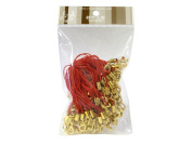 100 (Approx.) Red Mobile Phone Strap Strings with Gold Lobster Clasps [Toys & Crafts]