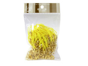 100 (Approx.) Yellow Mobile Phone Strap Strings with Gold Lobster Clasps [Toys & Crafts]