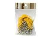 100 (Approx.) Sunflower Yellow Mobile Phone Strap Strings with Silver Lobster Clasps [Toys & Crafts]