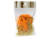 100 (Approx.) Orange Mobile Phone Strap Strings with Gold Lobster Clasps [Toys & Crafts]